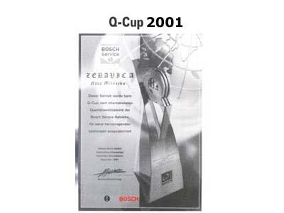 Osvojena nagrada Q-Cup
